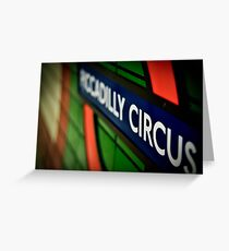 Piccadilly Circus Line Greeting Card