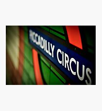 Piccadilly Circus Line Photographic Print