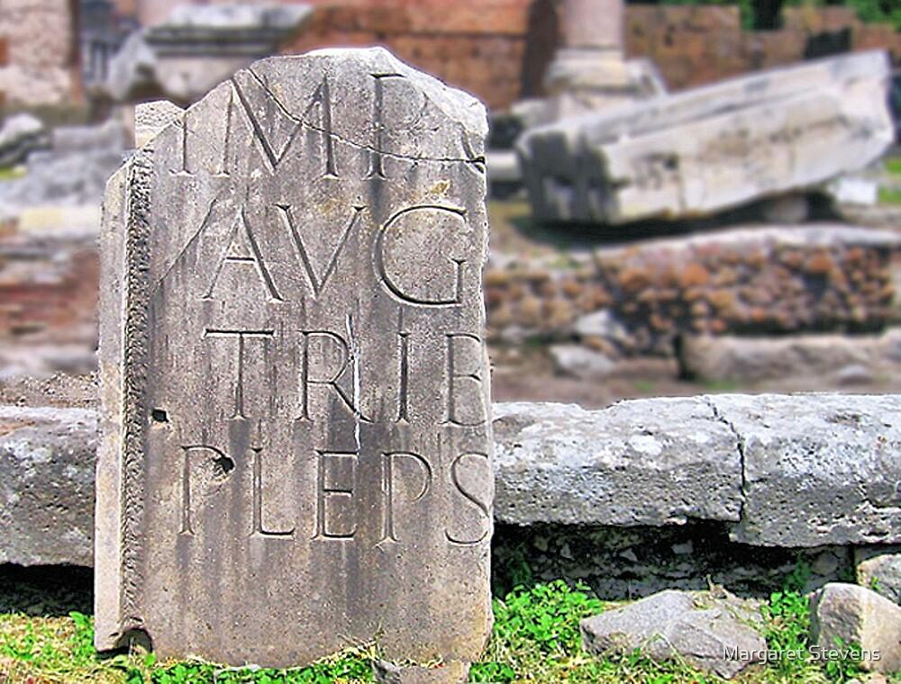 Ancient Roman Tablet by Margaret Stevens