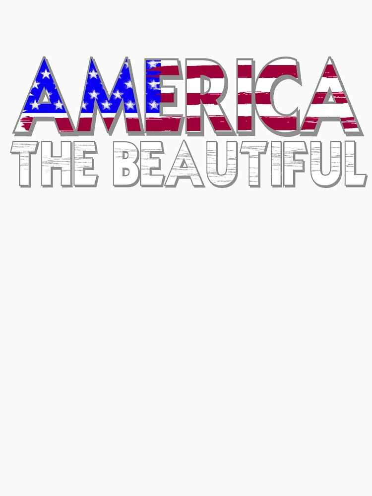 America the Beautiful in Red, White and Blue by Rightbrainwoman