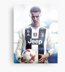 CR7 To Juventus Metal Print