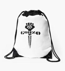 hunter s thompson gonzo sword Drawstring Bag