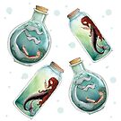 Mermaids in a bottle by shellysea