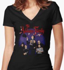Camiseta entallada de cuello en V Vintage La familia Addams
