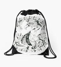 Pen & Ink 3 Drawstring Bag
