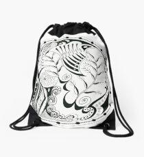 Pen & Ink 4 Drawstring Bag