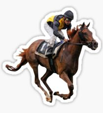 horse racing jockey Sticker