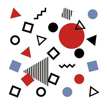 Retro Memphis Design Pattern by jrdesign1