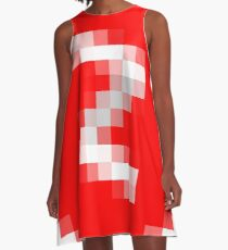#black, #white, #chess, #checkered, #pattern, #abstract, #flag, #board A-Line Dress