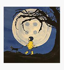 Coraline Button Moon Photographic Print