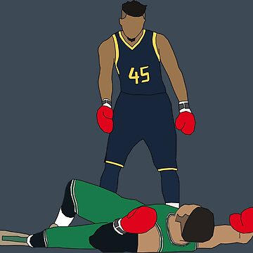 Donovan Mitchell Knocks Out Jayson Tatum by RatTrapTees