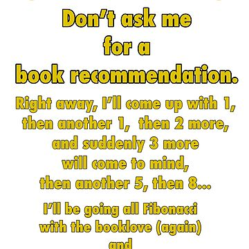 Book Recommendations Go Fibonacci by EverSoCleverCo