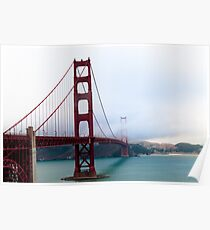 Golden Gate with Patches of Blue Sky Poster