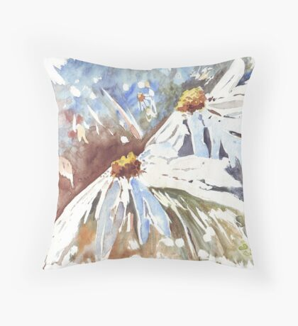 Daisy love in Spring Throw Pillow