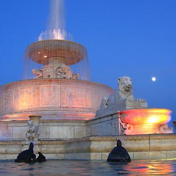 Scott Fountain, Belle Isle, Detroit by iddude313