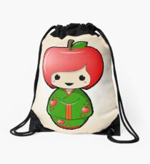 Apple Kokeshi Doll Drawstring Bag