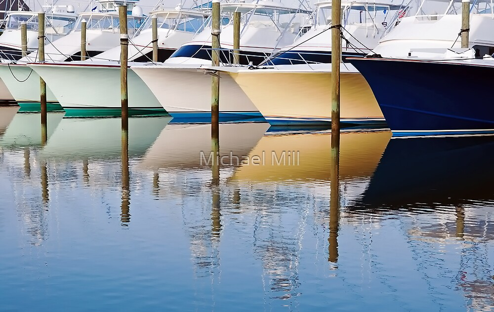 Boat Reflections by Michael Mill