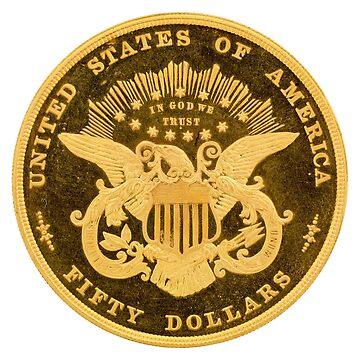 USA - United States $50 gold coin by flashman