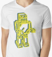 Robot Pop Art Graphic Men's V-Neck T-Shirt