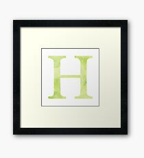 Lime Watercolor Η Framed Print