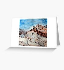 The South Ledges, Appledore, study of the original by Childe Hassam Greeting Card