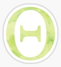 Lime Watercolor Θ Sticker
