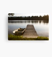 Row Boat on Savage Lake, MT Canvas Print