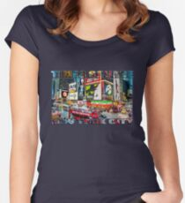 Times Square II widescreen Fitted Scoop T-Shirt