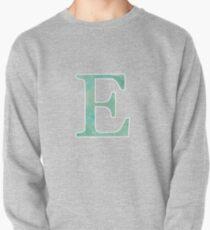 Emerald Watercolor Ε Pullover Sweatshirt