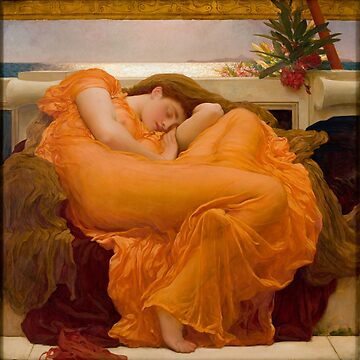 Flaming June Oil Painting by Frederic Lord Leighton by podartist