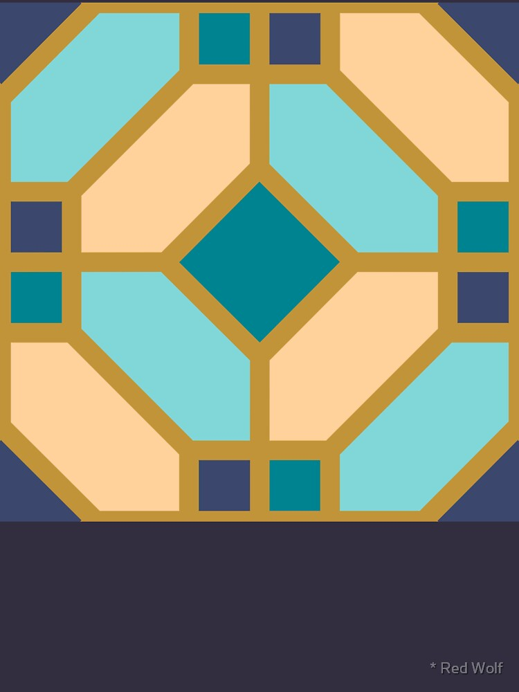 Geometric Pattern: Art Deco Tile: Dream by redwolfoz