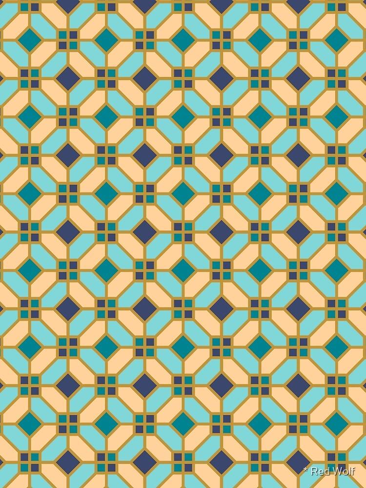 Geometric Pattern: Art Deco Tile: Dream by redwolfoz