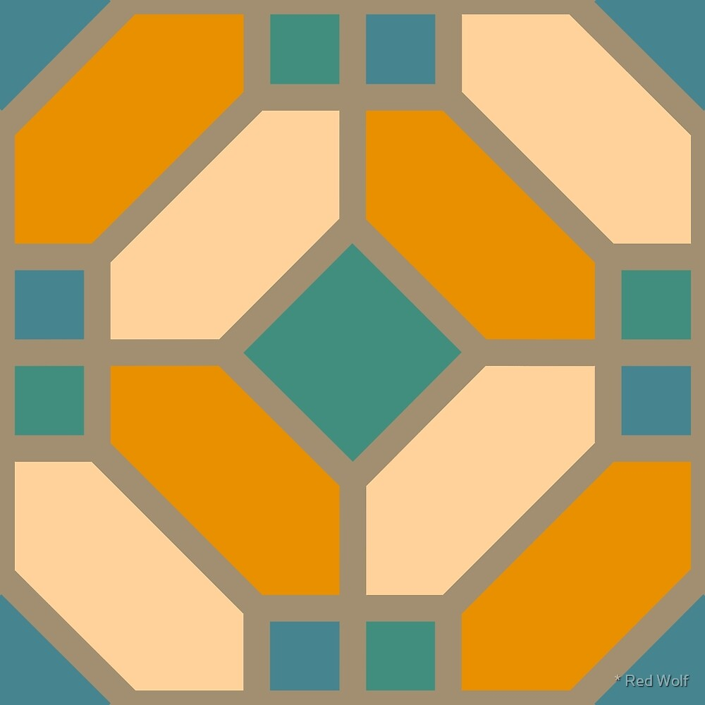 Geometric Pattern: Art Deco Tile: Lily by * Red Wolf