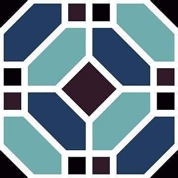 Geometric Pattern: Art Deco Tile: Midnight by redwolfoz