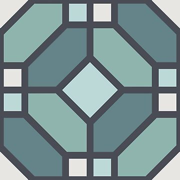 Geometric Pattern: Art Deco Tile: Seafoam by redwolfoz