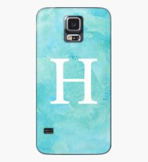 Teal Watercolor Η Case/Skin for Samsung Galaxy