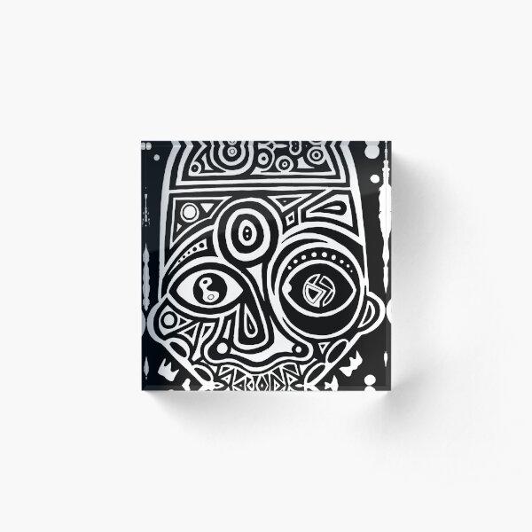 Maske Totem Traum  Acrylblock