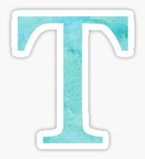 Teal Watercolor Τ Sticker