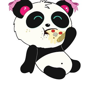 Panda Shirt with Pizza for Women and Girls by mrwater12vn