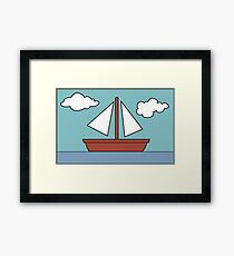 Simpsons Sailboat Painting Framed Print