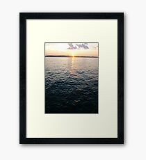 Sea, Water, Sunset, Reflection, #Sea, #Water, #Sunset, #Reflection Framed Print