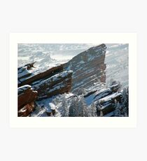 White Rocks Art Print