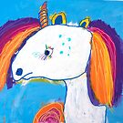 'Rainbow Unicorn' by Lily Niehus (2018) by Peter Evans Art