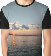 Water, Sunset, Reflection, #Water, #Sunset, #Reflection Graphic T-Shirt
