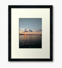 Water, Sunset, Reflection, #Water, #Sunset, #Reflection Framed Print