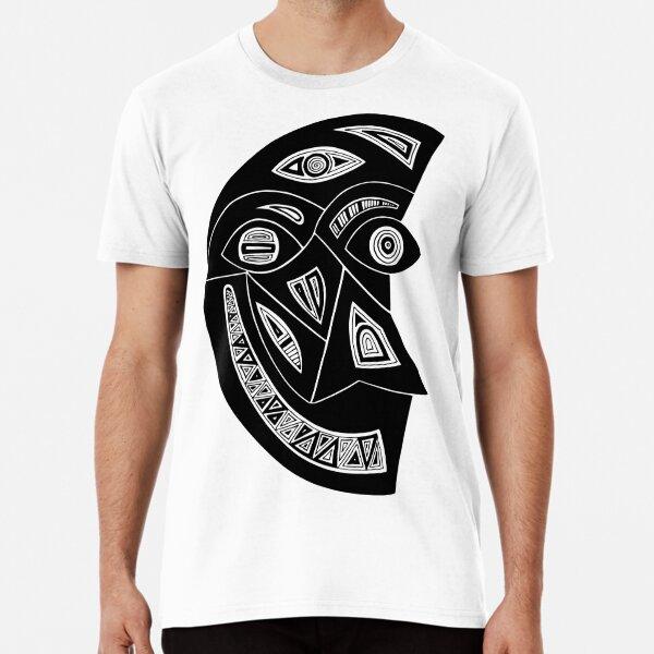 Maske Totem Mond Mann Premium T-Shirt