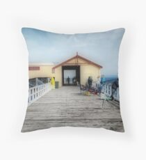 Queenscliffe Pier - Victoria Australia Throw Pillow