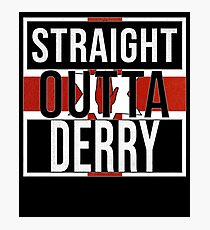 Straight Outta Derry Retro Style - Gift For An Derry From Northern Ireland , Design Has The Irish Flag Embedded Photographic Print
