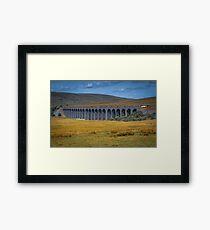 Logging train crossing over Ribblehead Viaduct Framed Print