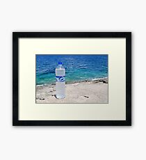 Water bottle, Arkoudaki beach, Paxos Framed Print